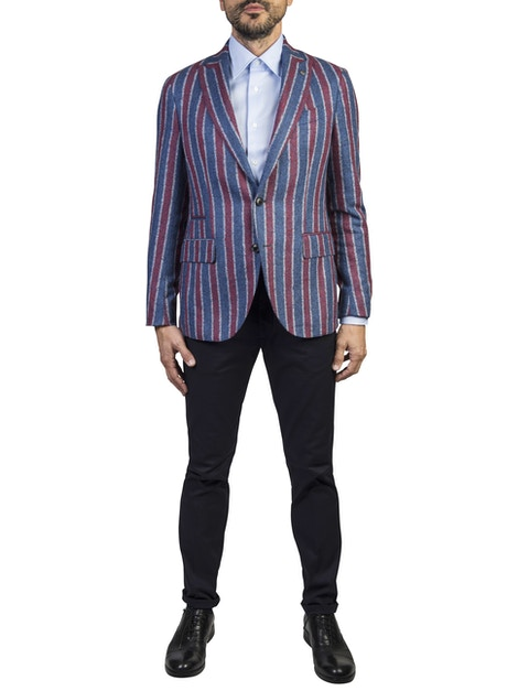 Striped design patos jacket