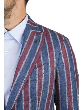 Striped design patos jacket