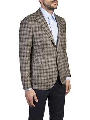Brown geometric design tropez jacket
