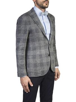 grey checked design terni jacket