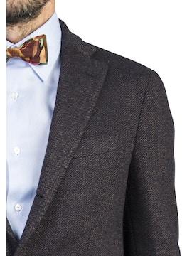 herringbone biella jacket