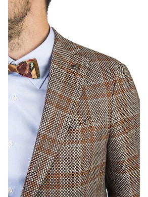 checked design brescia jacket