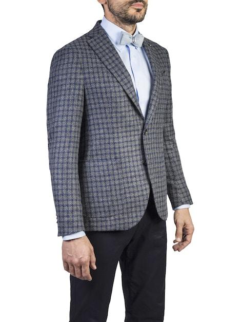 giacca brescia blu a scacchi