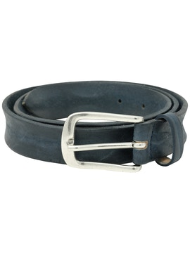 Blue garment dyeing leather belt h2,5
