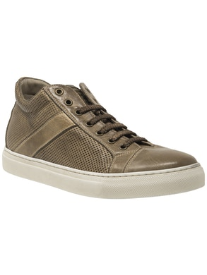 Perfored leather high sneakers