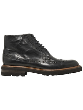 longwing brogues derby boot shoes with contrast details