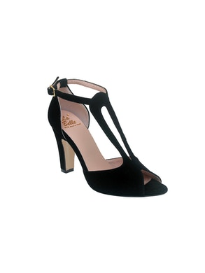Sandalo Open Toe nero