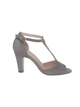 Taupe open toe sandal