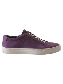 Wine nabuk leather sneakers