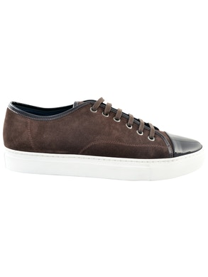 Brown suede leather sneakers