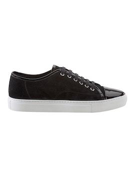 Black suede sneakers