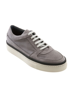 Phyton leather sneakers with contrast details