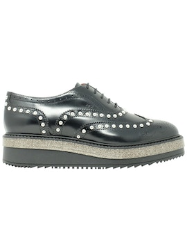 oxford black shoes with studs