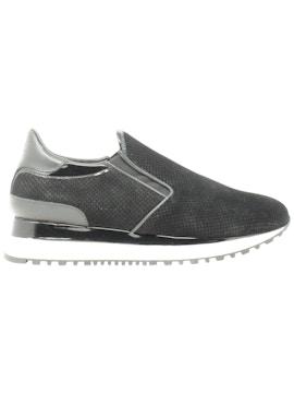 black slip-on sneakers shoes
