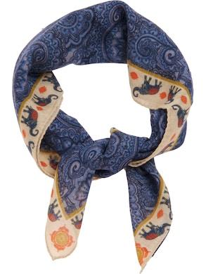 Blue indian foulard