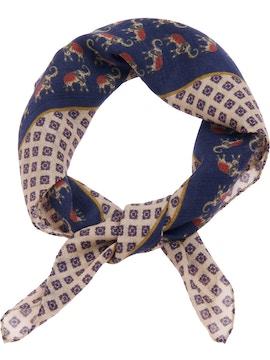 Blue elephant foulard