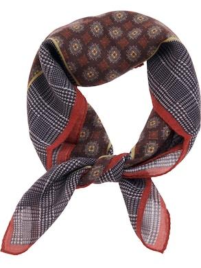 Grey/red foulard