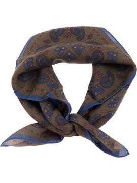 Brown paisley foulard