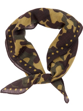 Brown animalier foulard