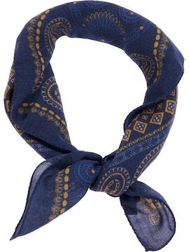 Blue paisley foulard