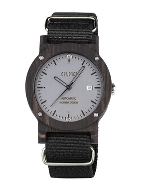 Black fabric ebano watch