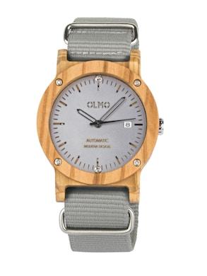 Grey fabric olive watch