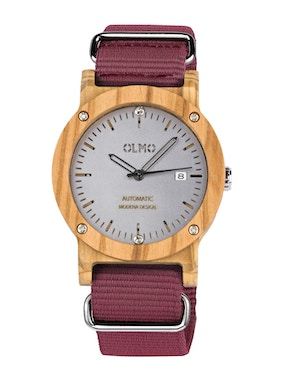 Red fabric olive watch