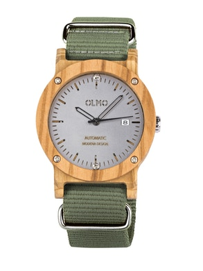Green fabric olive watch