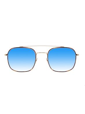 CASEY Oro Rim Havana - Lente Blu Specchiata