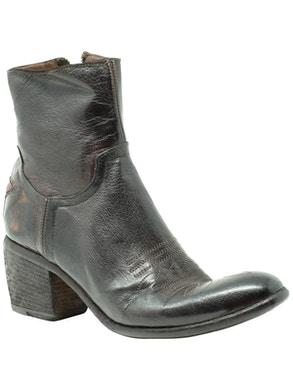 Buffalo leather ankle boots