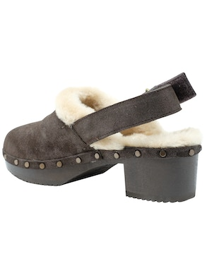 Dark brown clogs