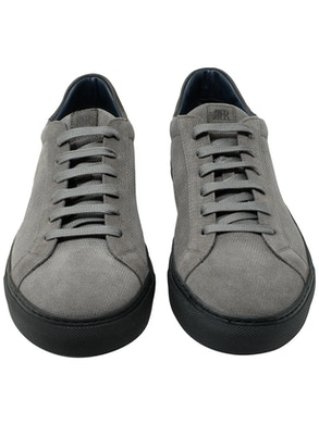 Velour st. rombet grey low sneakers