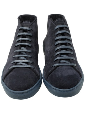 Beaver blue color high-top sneaker