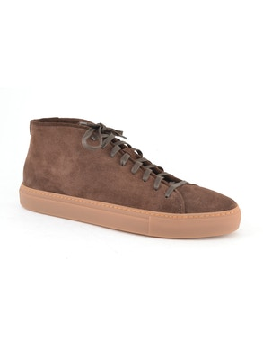 Beaver tobacco high-top sneakers