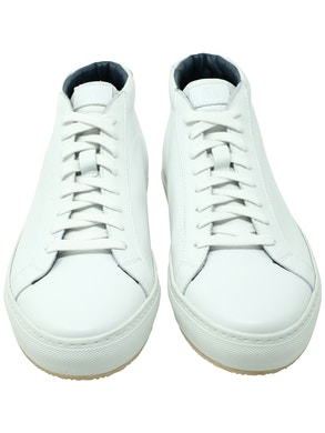 White Stockholm high-top sneakers