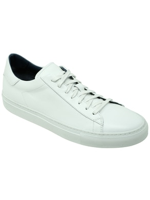 White stockholm low sneakers