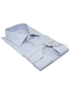 Camicia riga blu collo mezzo Italia