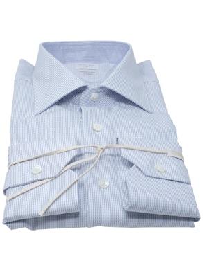 Camicia trattino blu collo mezzo Italia