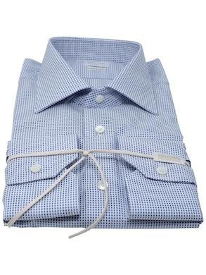 Blue Polka Dots Semispread collar