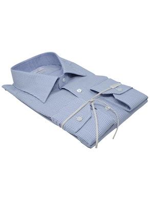 Camicia pois blu collo mezzo Italia