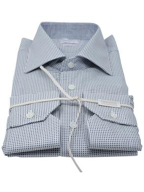 Black Polka Dots shirt Semispread collar