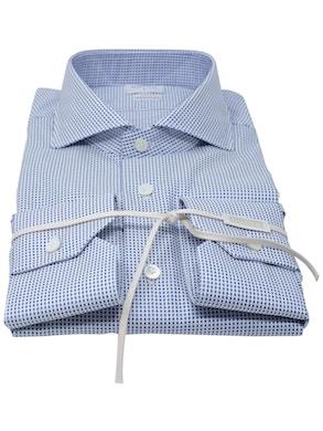 Blue Polka Dots shirt French collar