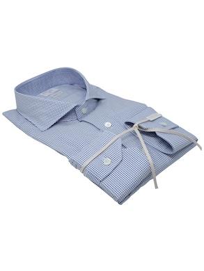 Camicia pois blu collo Francia piccolo