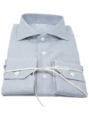 Black Polka Dots shirt French collar