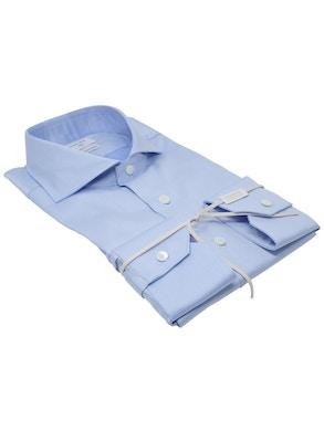 Blue solaro shirt French collar