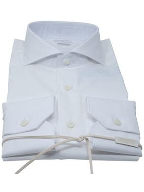 White Polka Dots shirt French collar