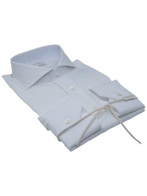 Camicia pois bianco collo Francia piccolo