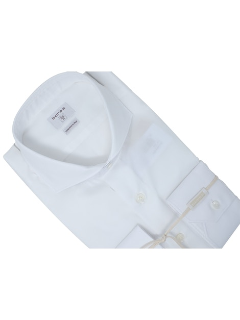 White Barrè shirt French collar