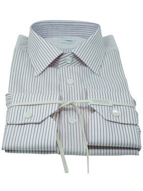 Red stripe shirt Italian collar