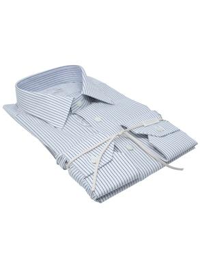 Black stripe shirt Italian collar